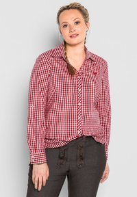 Sheego - Button-down blouse - rot - 0