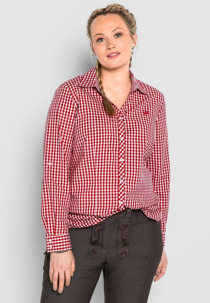 Sheego - Button-down blouse - rot