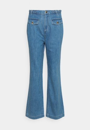 CAROL BRAID PANTS CANYON  - Džíny Bootcut - bluestone blue