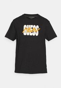 TOUR LOGO TEE - Print T-shirt - jet black