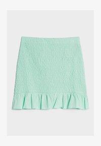 Bershka - MIT GUMMIZUG UND VOLANTS  - A-line skirt - green - 4