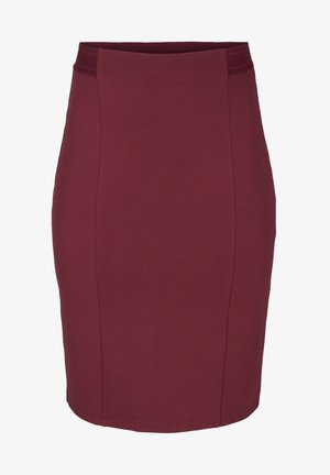 Pencil skirt - dark bordeaux