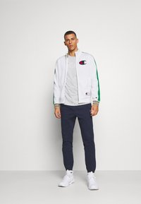 Champion - ROCHESTER RETRO BASKET FULL ZIP - Kurtka sportowa - white/green - 1