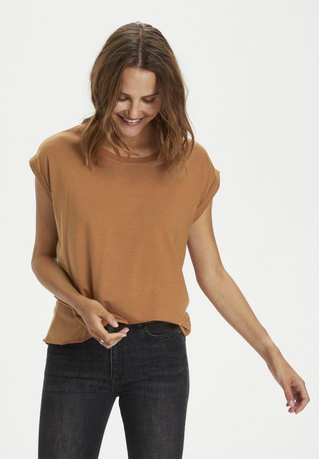 ADELIASZ - T-shirt basic - pecan brown