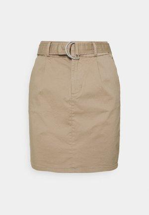 VMEVA BELT SHORT SKIRT - A-snit nederdel/ A-formede nederdele - silver mink