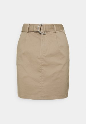 VMEVA BELT SHORT SKIRT - A-line skirt - silver mink