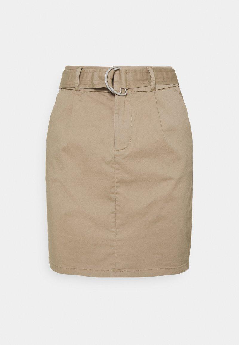 Vero Moda Petite - VMEVA BELT SHORT SKIRT - A-line skirt - silver mink
