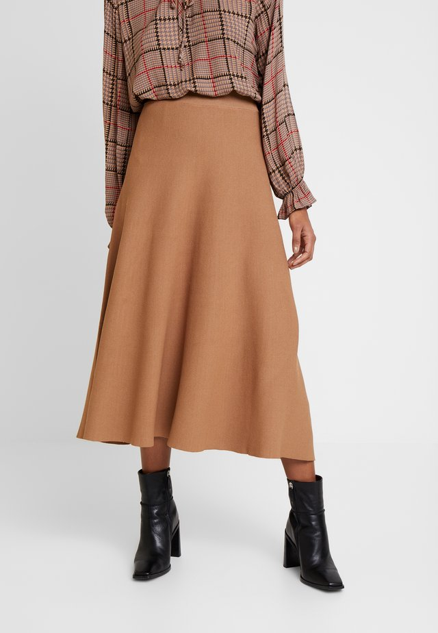 CELINA SKIRT - Gonna a campana - brown sugar