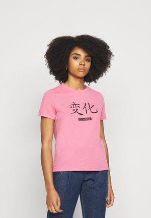 VMLOTUS - Print T-shirt - chateau rose
