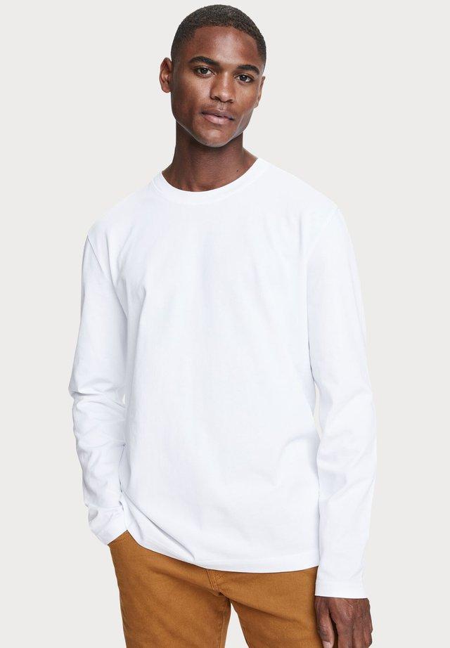 LONG SLEEVE - Långärmad tröja - denim white