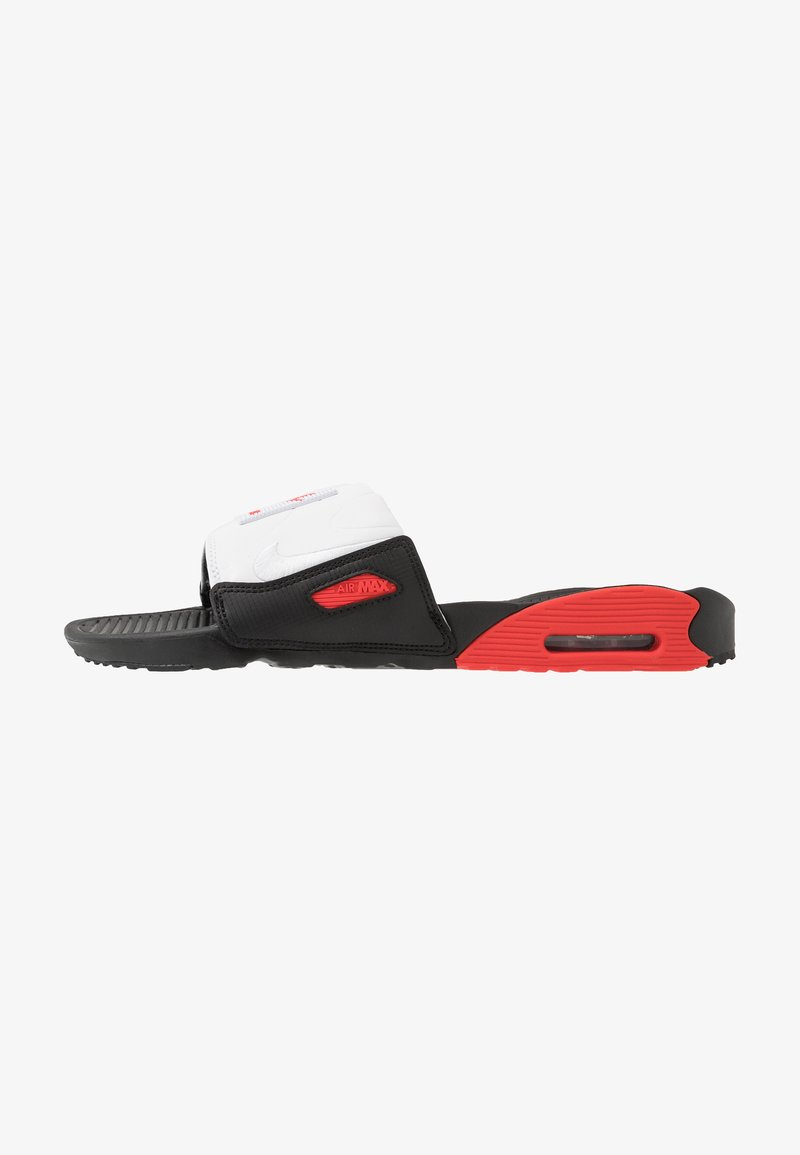 Nike Sportswear - AIR MAX 90 SLIDE - Mules - black/white/chile red
