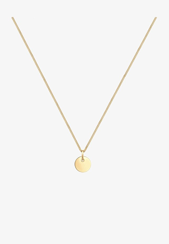 PLÄTTCHEN KREIS GEO BASIC - Necklace - gold-coloured