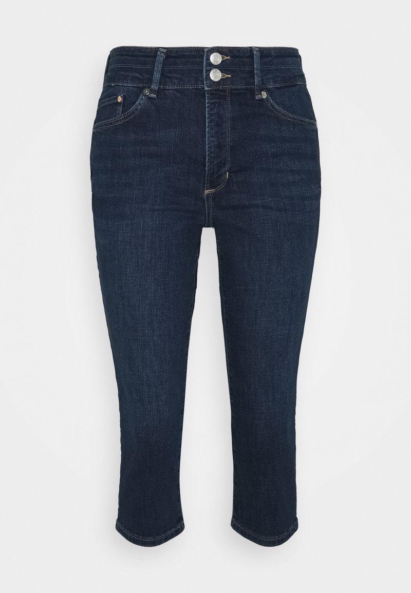 s.Oliver - Denim shorts - dark blue denim