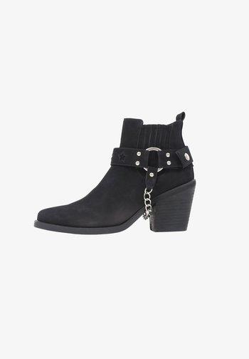 WARHOLE - High heeled ankle boots - black