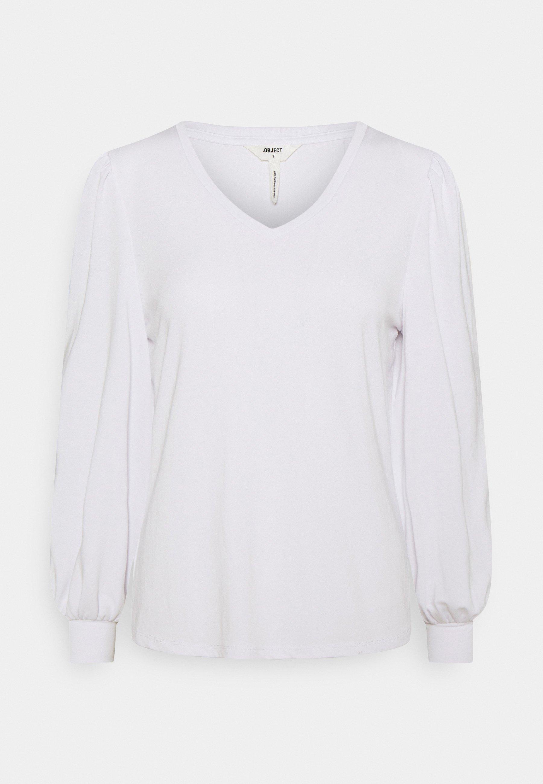 Women OBJANNIE V NECK - Long sleeved top