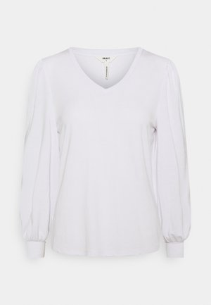 OBJANNIE V NECK - Long sleeved top - white