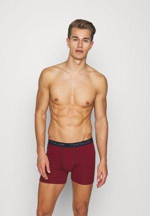 LONGPANTS 3 PACK - Pants - red7dark blue/mottled grey