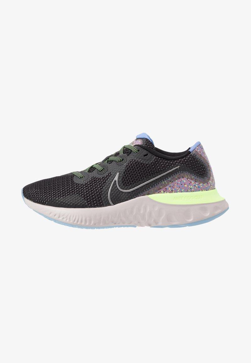 Nike Performance - RENEW RUN SE - Zapatillas de running neutras - black/metallic dark grey/plum dust/royal pulse/ghost green/platinum violet