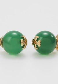 Tory Burch - SEMI PRECIOUS STUD EARRING - Náušnice - gold-coloured/dark jade - 4