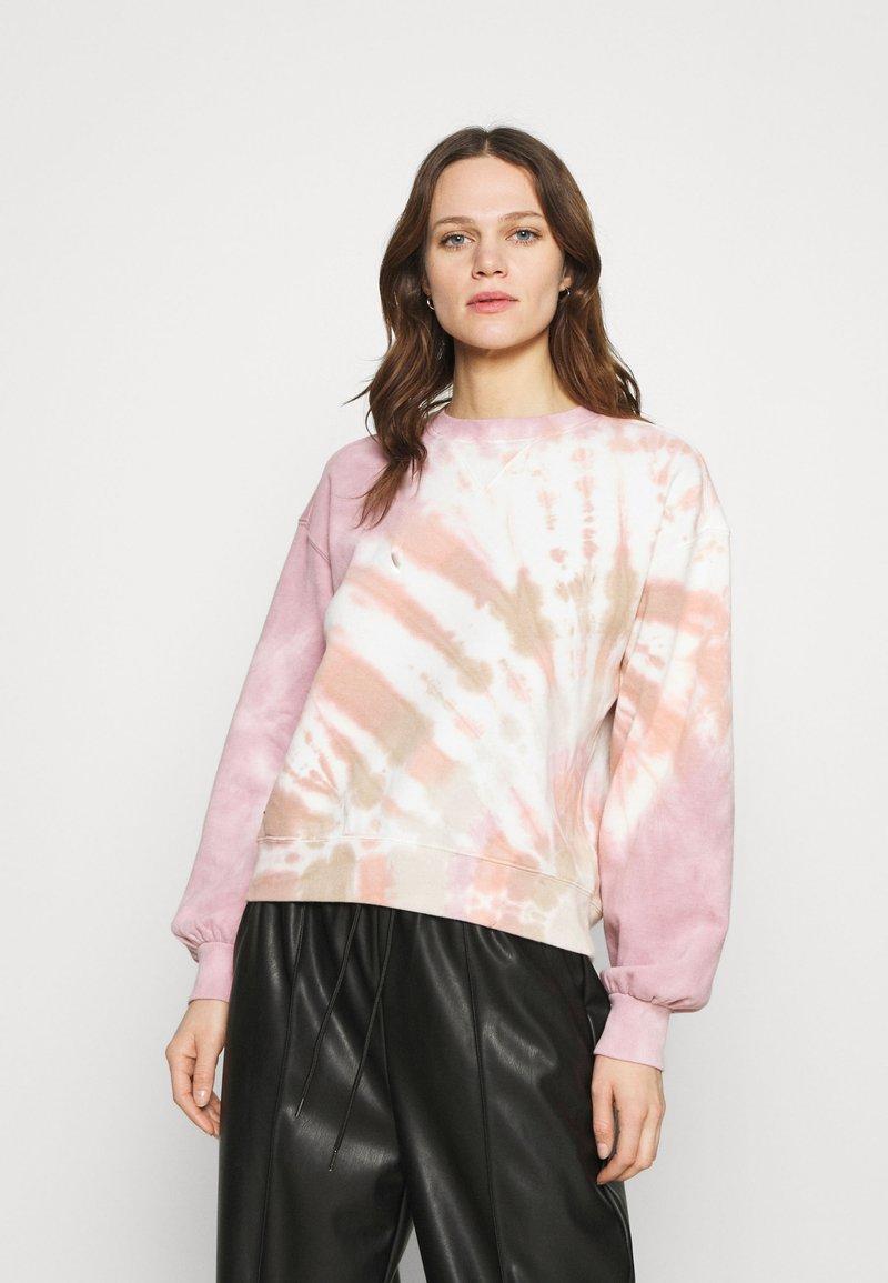 Abercrombie & Fitch - CREW PATTERN - Sweatshirt - pink wash