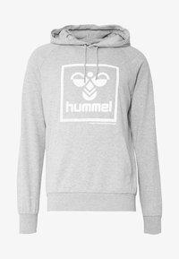 Hummel - HMLISAM HOODIE - Hættetrøjer - grey melange - 4
