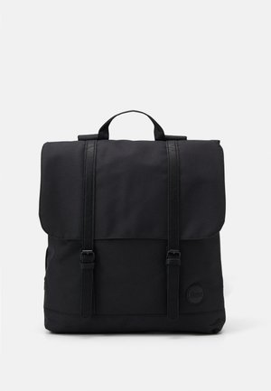 CITY BACKPACK FRONT STRAPS - Plecak - black