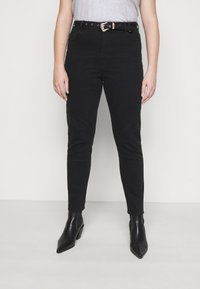 Pieces Curve - PCROSIE WESTEN BELT - Slim fit jeans - black - 3