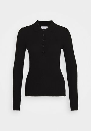 BRISBANE BUTTON BLACKET - Jumper - pure black