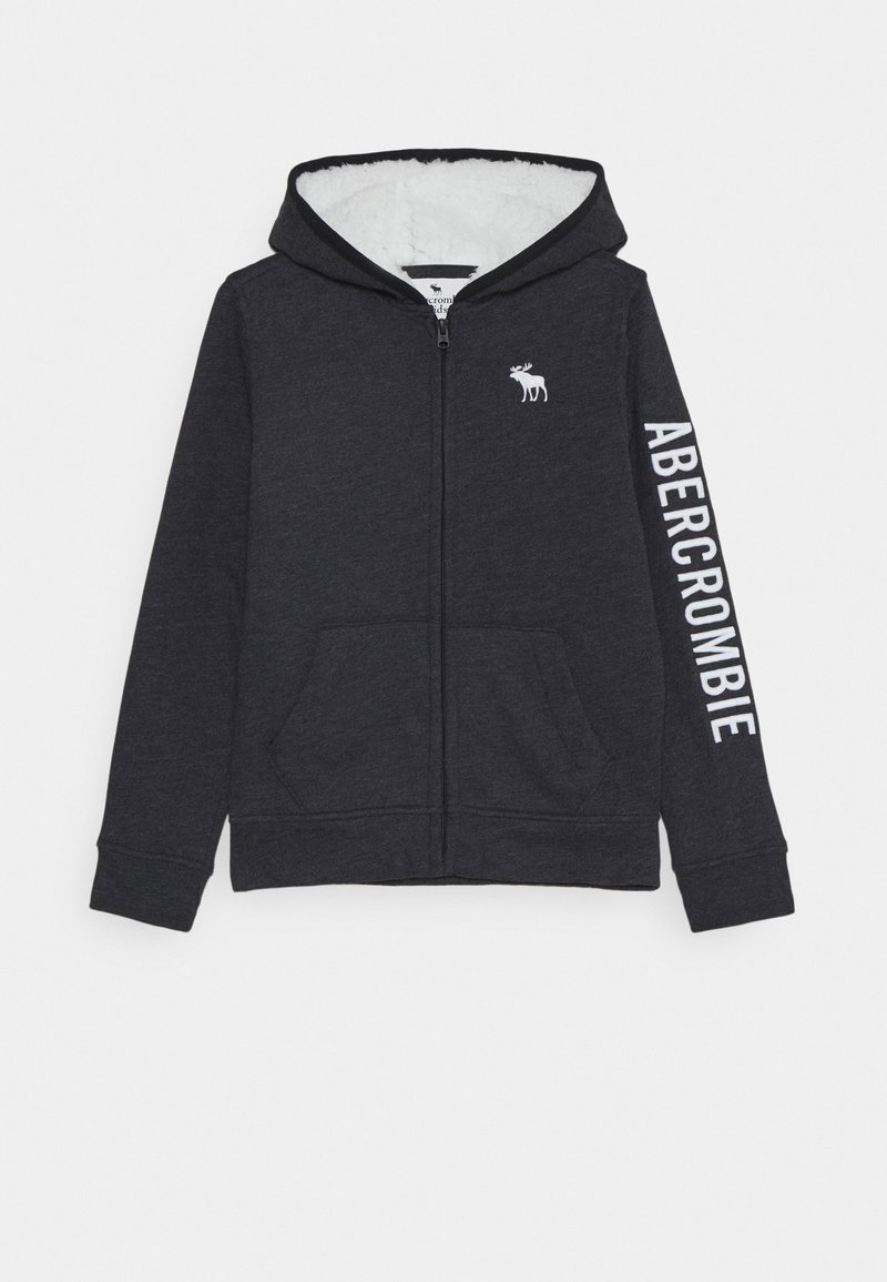Abercrombie & Fitch - ICON - Zip-up hoodie - black
