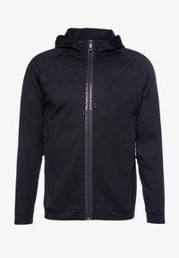 BOSS ATHLEISURE - SWOVEN - Zip-up hoodie - black - 0