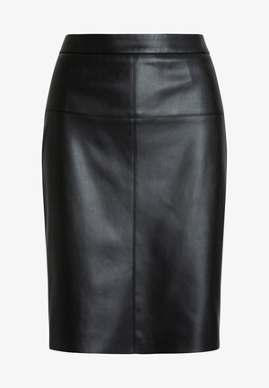 Leather skirt - schwarz