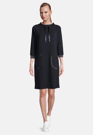MIT KRAGEN - Jersey dress - dunkelblau