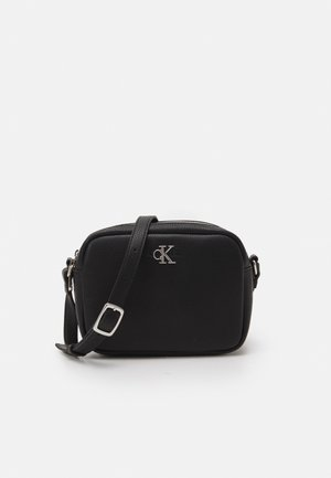 DOUBLE ZIP CROSSBODY - Bandolera - black