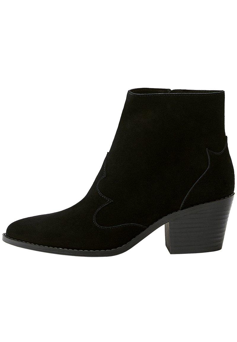 PULL&BEAR - LEDERSTIEFELETTEN IM COWBOYLOOK 11062540 - Cowboy/biker ankle boot - black