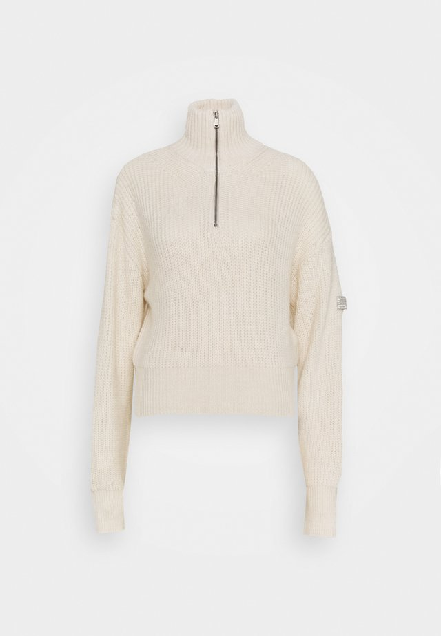 FISHERMAN ZIP UP - Jumper - cream