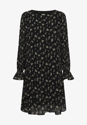 Vestito estivo - black w. flower print