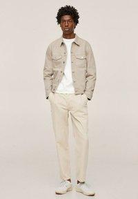 Mango - Denim jacket - open beige - 1