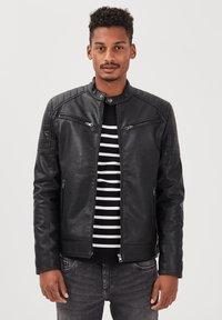 BONOBO Jeans - Imitatieleren jas - noir - 3