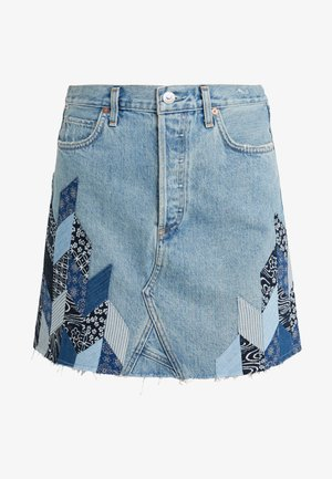 ASTRID  - Gonna di jeans - caliqoue patch