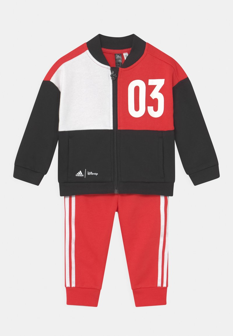 adidas Performance - DISNEY MICKEY MOUSE JOGGER SET - Tracksuit - black/red