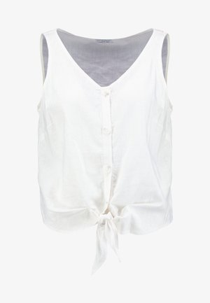 KNOTTED BLOUSE SLEEVELESS - Blouse - white