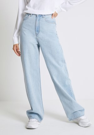 HIGH LOOSE - Jean flare - light indigo - flat finish