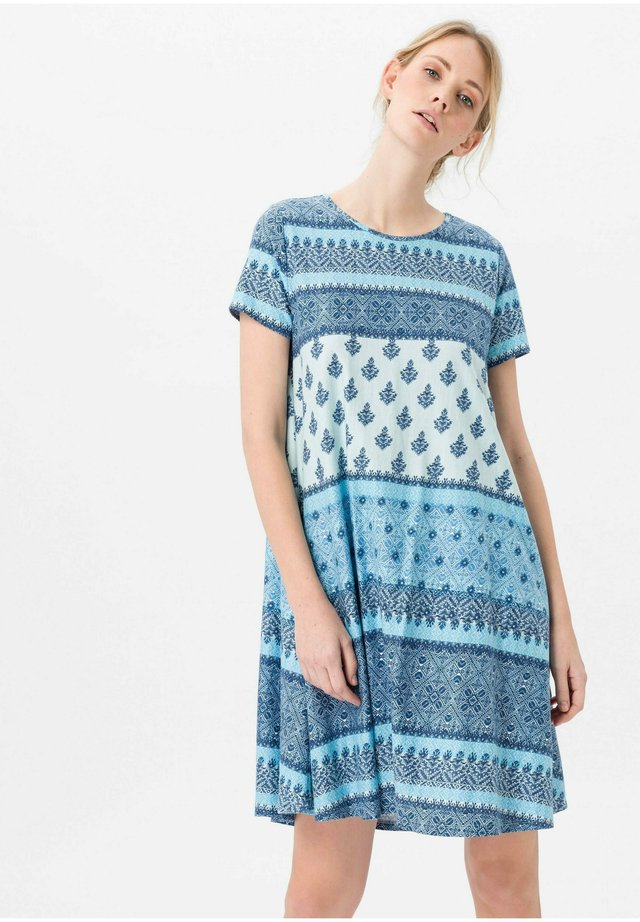 Jersey dress - blau/multicolor