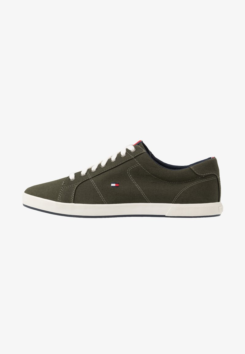 Tommy Hilfiger - ICONIC LONG LACE - Trainers - khaki
