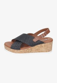 Piazza - Wedge sandals - black - 0