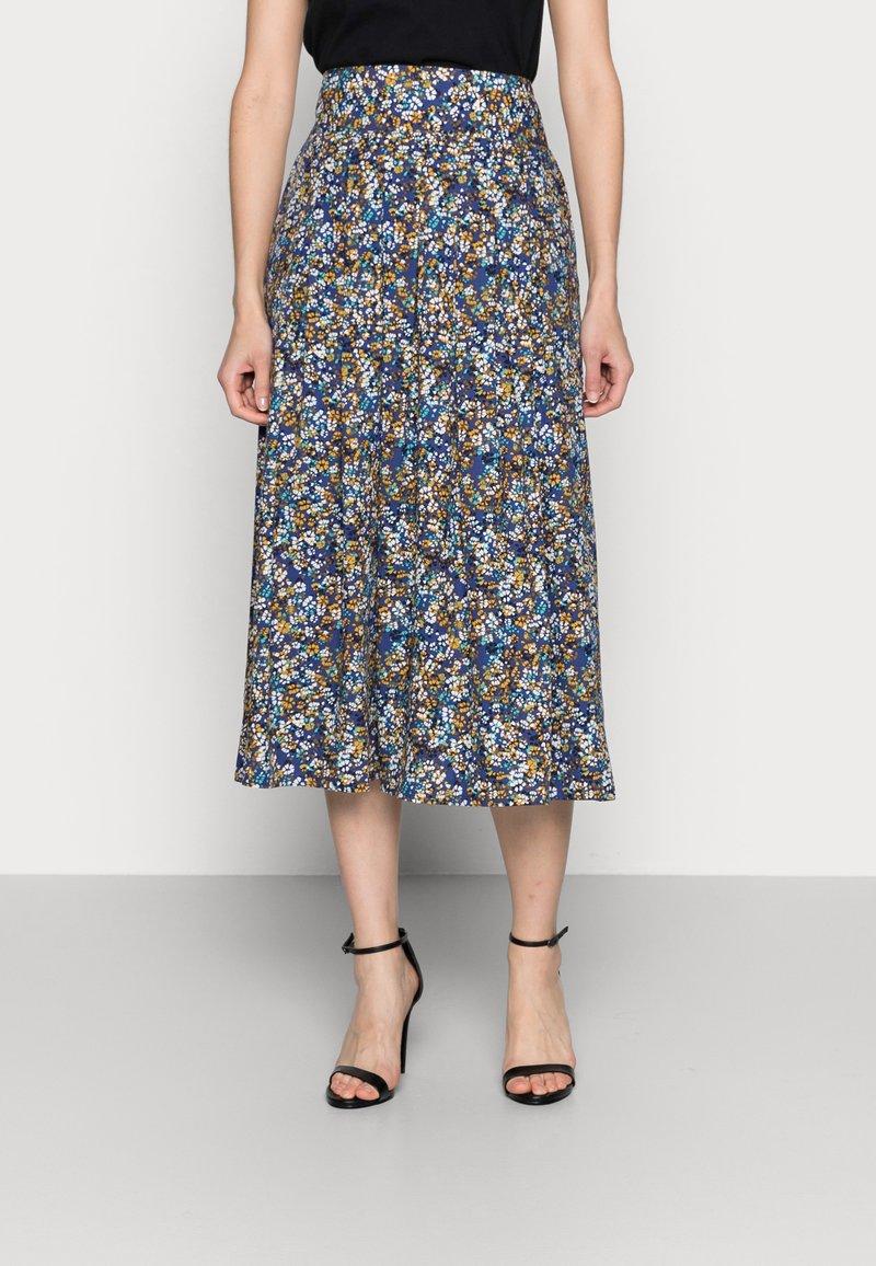 Thought - ELSIE PLEATSKIRT - A-line skirt - azure blue