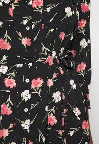 ONLY - ONLNOVA LUX 3/4 LONG DRESS - Košilové šaty - black - 5