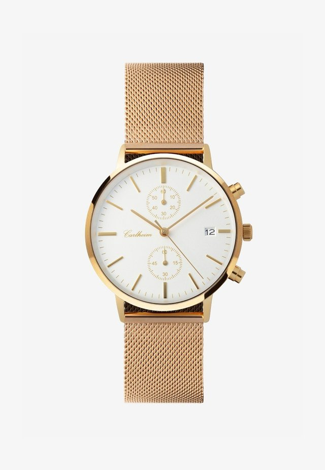 Chronograph watch - gold-white