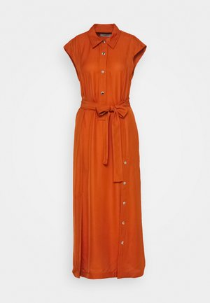 LONG SHIRT - Maxi dress - tangerine