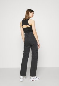 Weekday - ABEL TROUSERS - Straight leg jeans - washed black - 2